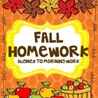 Fall Homework Pack (Editable)