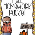 Fall Homework Printables
