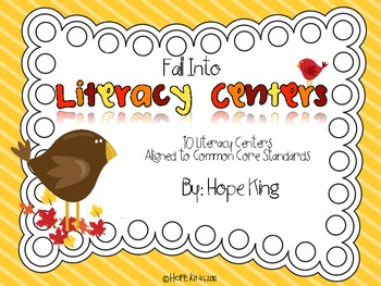 Fall Into Literacy Centers {10 Literacy Centers for Fall}