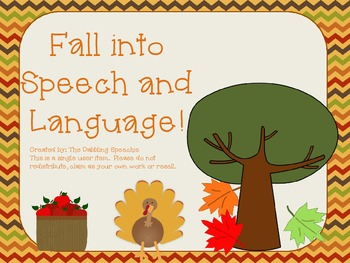 Fall Into Speech and Language Pack