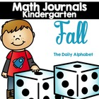 Fall Kindergarten Math Journals