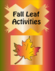 Fall Leaf Activities for Early Learners