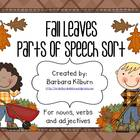 Fall Leaves Parts of Speech Sort