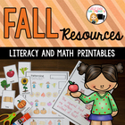 Fall Literacy and Math Activities for Kindergarten and Fir