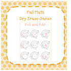 Fall Math Dry Erase Games