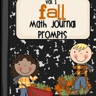 Fall Math Journal Prompts - Vol. 1