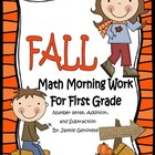 Fall Math Morning Work for First Grade