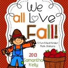 Fall Math Stations for Kindergarten