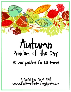 Fall Math Story Problems for K-1 Students