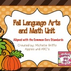 Fall Math and Language Arts Thematic Unit