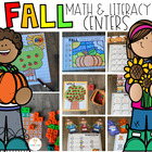Fall Math and Literacy Centers for Kindergarten