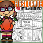 Fall Math and Literacy Packet (1st Grade)