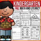 Fall Math and Literacy Packet (Kindergarten)