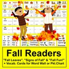 Fall Mini Books Emergent Readers-3 Different Books-4 Versi