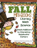 Fall Mini Books Literacy Math Science -Additions to Intera