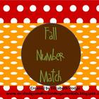 Fall Number Match- Number and Number Word