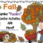 "Fall Number ""Puzzlers"" and More Center Activities"
