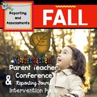 Fall Parent & Teacher Conference Reporting Form: Kindergarten