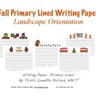 Fall Primary Writing &amp; Drawing Paper (Landscape and Portrait)