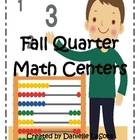 Fall Quarter Math Centers and Activities