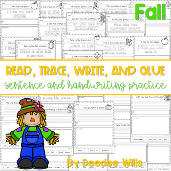 Fall Read, Trace, Glue, and Draw