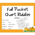 Fall Riddles for the Pocket Chart (Halloween too!)