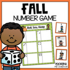 "Fall ""Roll, Say, Keep"" Number Recognition Game"