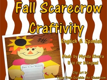 Fall Scarecrow Writing Craftivity (English & Spanish)