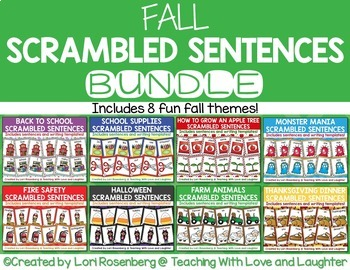 Fall Scrambled Sentences Bundle Pack