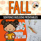 Fall Sentence Building for Kindergarten and First Grade