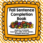 Fall Sentence Completion Book