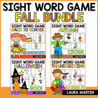 Fall Sight Word Games Big Pack