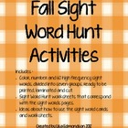 Fall Sight Word Hunt