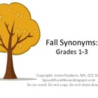 Fall Synonyms: Primary Speech Therapy