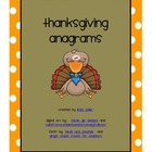 Fall Thanksgiving Anagrams