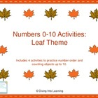 Fall Theme Math Activities for Numbers 0-10