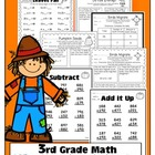 Fall Themed Math for 3rd Grade Common Core Standards O.A.