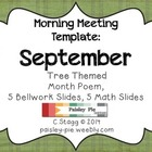Fall Themed SEPTEMBER morning meeting template