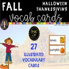 Fall Themes Word Cards Polka Dots