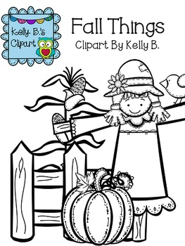 Fall Things Clipart by Kelly B.