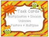 Fall Unknown Factors Multiplication and Division Task Cards