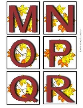 Fall Uppercase Alphabet Cards