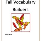 Fall Vocabulary Builders