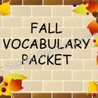 Fall Vocabulary Packet