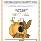 Fall Vocabulary Word Wall