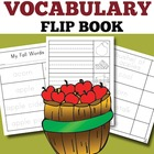 Fall Vocabulary Words Flip Book: Trace, Cut, and Color