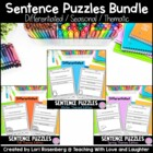 Fall, Winter, and Spring Sentence Puzzles