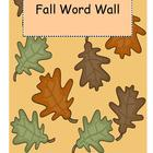 Fall Word Wall Headers and Word Wall Cards