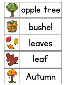 Fall Word Wall Words