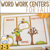 Fall Word Work Centers: ABC Order, Word Families, Parts of